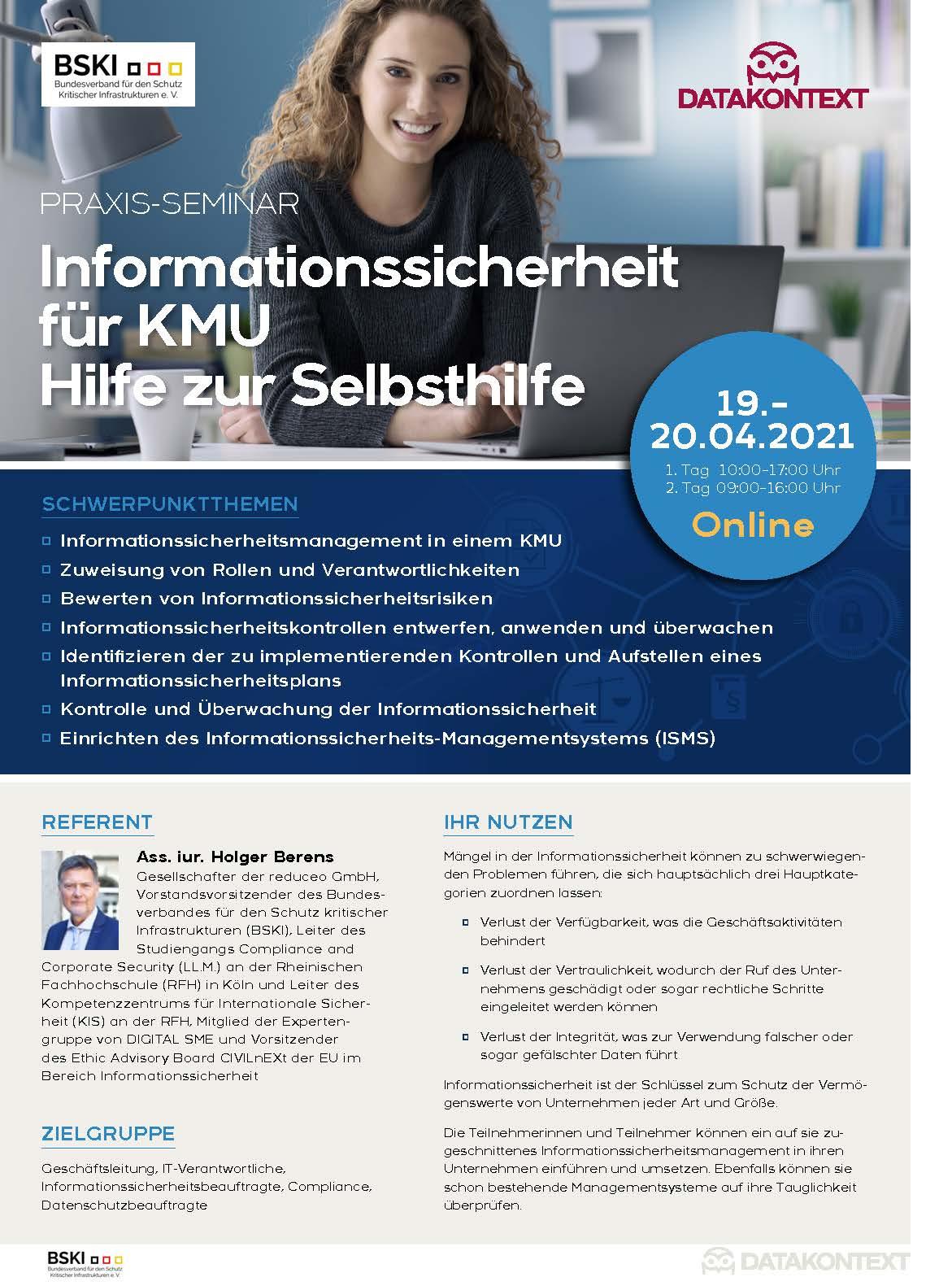Informationssicherheit für KMU Hilfe zur Selbsthilfe