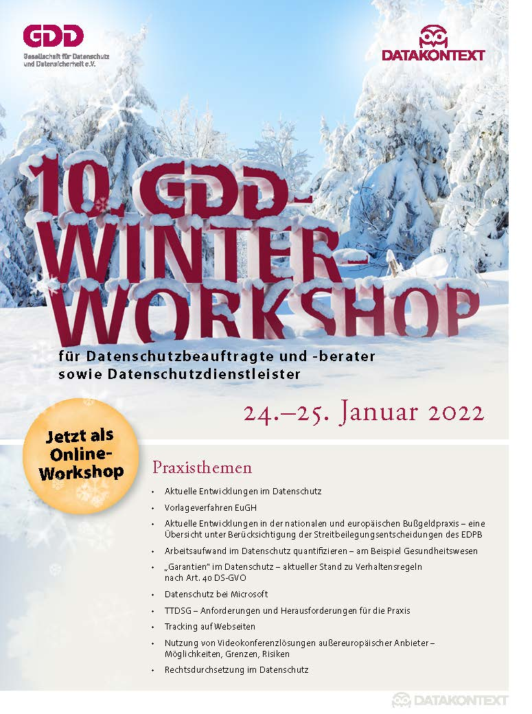 9. GDD-Winter-Workshop