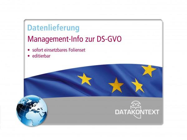 Management-Info zur Datenschutz-Grundverordnung (DS-GVO)