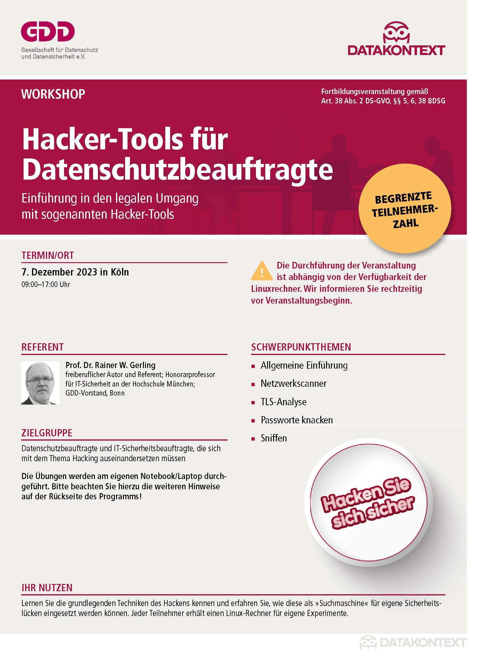 Hacker-Tools für Datenschutzbeauftragte