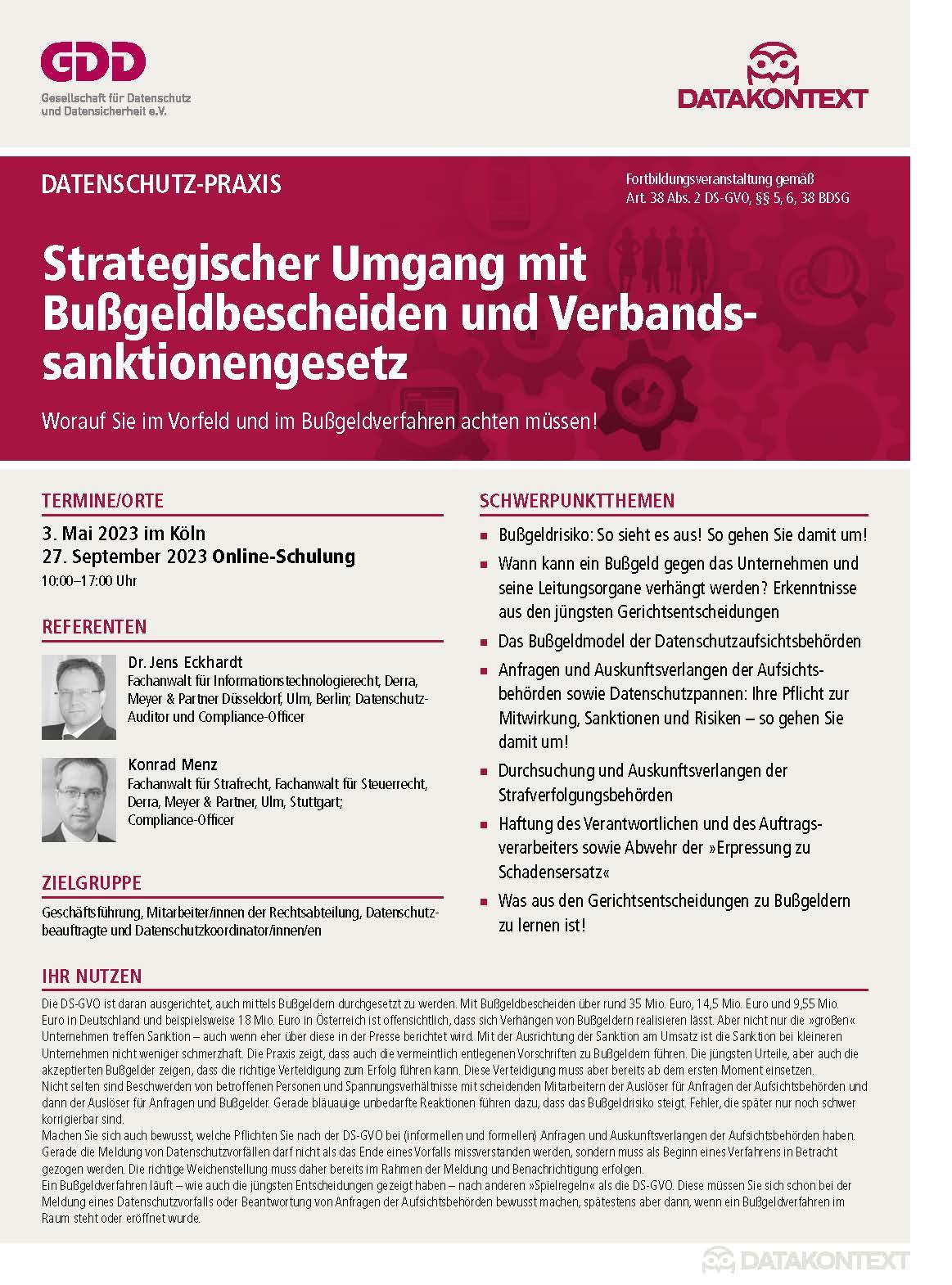 Strategischer Umgang mit Bußgeldbescheiden und Verbandssanktionengesetz