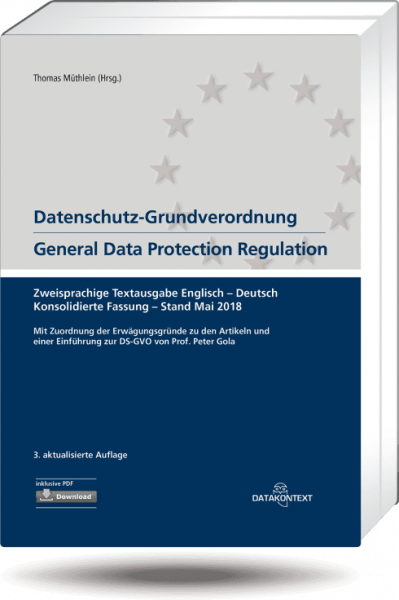 Textausgabe Datenschutz-Grundverordnung (DS-GVO)