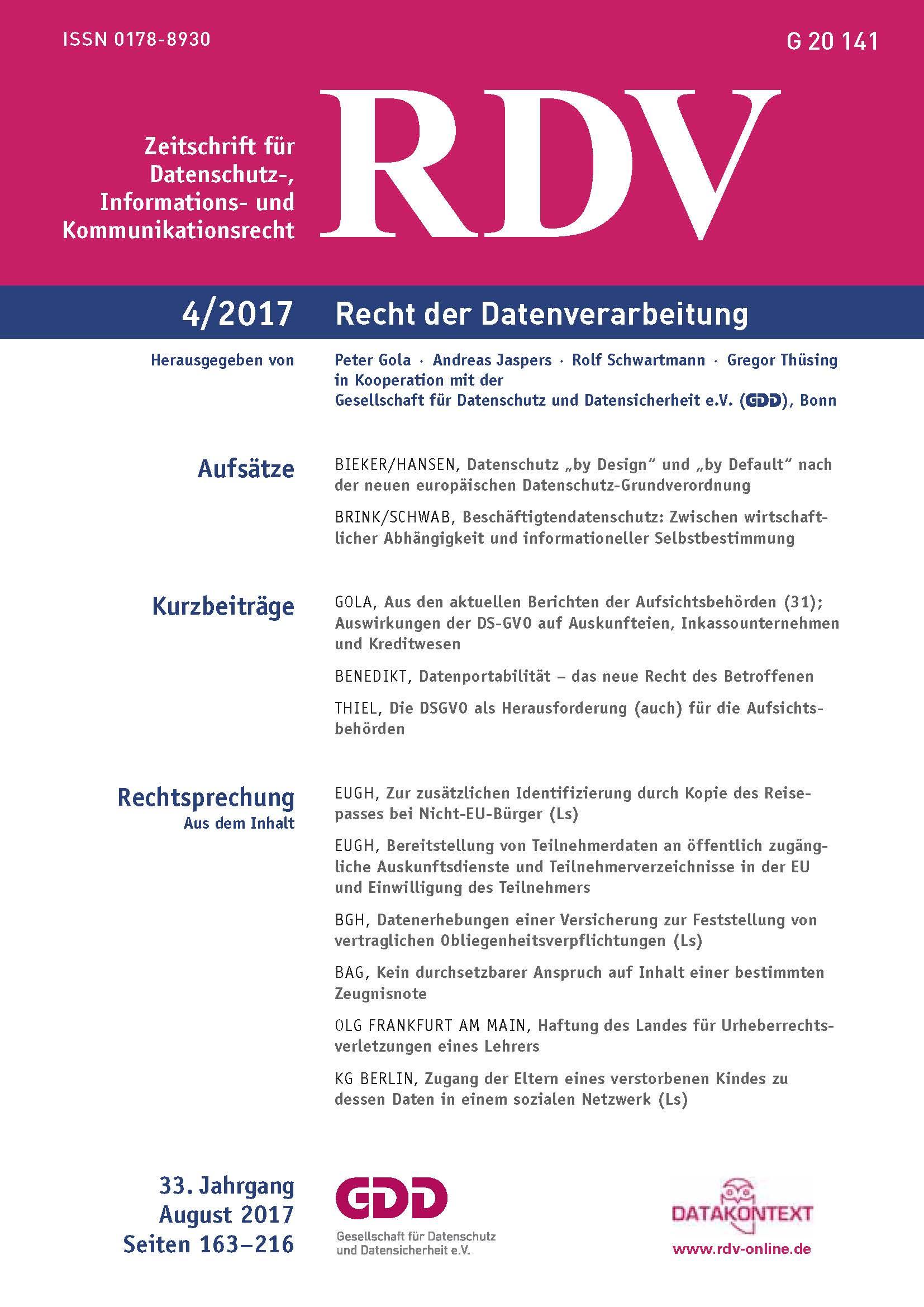 Die neue Ausgabe der RDV ist da!