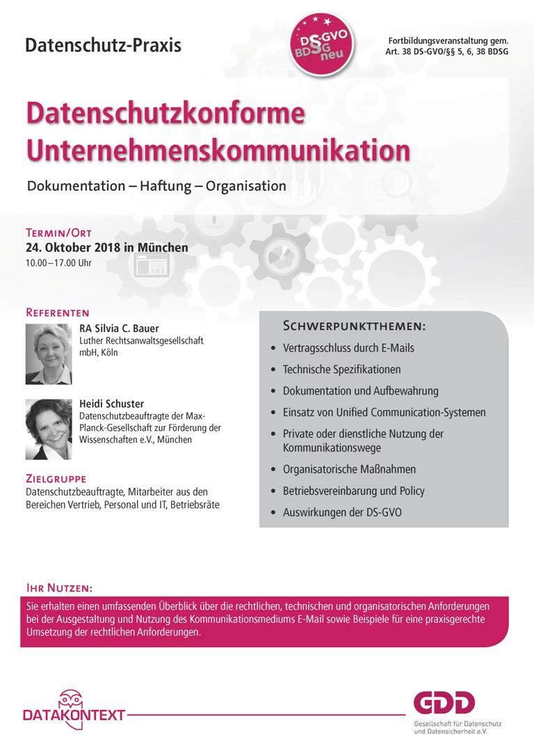 Datenschutzkonforme Unternehmenskommunikation