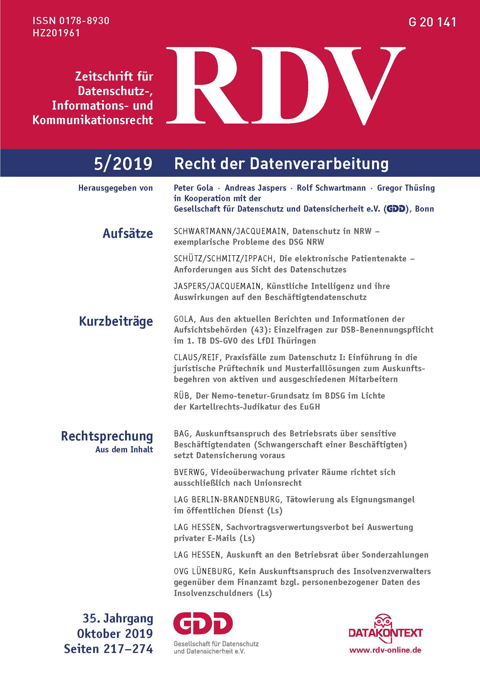 RDV_5_2019_Cover
