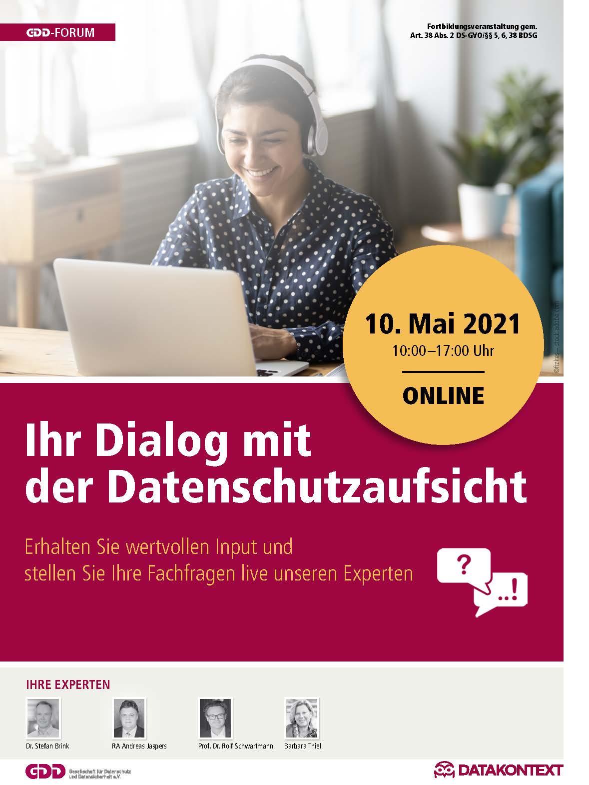Ihr Dialog mit der Datenschutzaufsicht